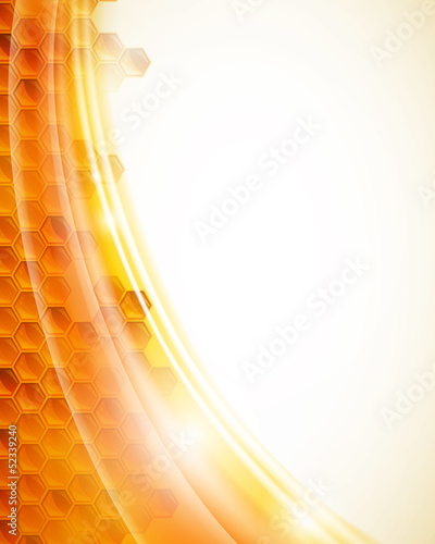 Vector Illustration of an Abstract Honey Background