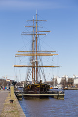 The three-masted barque Sigyn