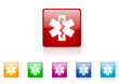 rescue vector glossy web icon set