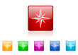 compass vector glossy web icon set
