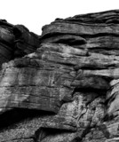 rock face black and white