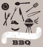 Vintage Vector Barbecue Set