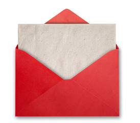 Red envelope with empty card.