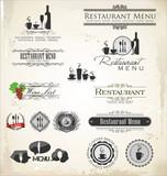 Fototapety Label set for restaurant