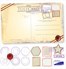 Set Of Postage Elements