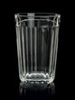 Thick glass tumbler.