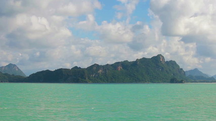 Limestone cliffs in the bay. Thailand, Krabi