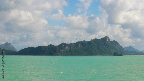 Limestone cliffs in the bay. Thailand, Krabi