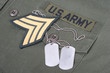 us army uniform Vietnam War period with blank dog tags