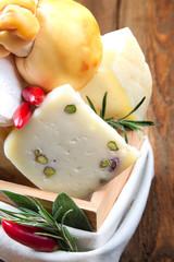 Italian cheese wooden box, rustic