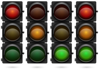 Traffic lights vector template.