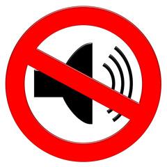 Divieto rumore - Fare silenzio