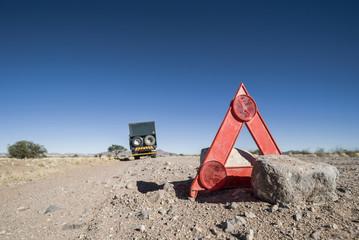 Autopanne in der Wüste