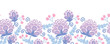 Vector Soft purple flowers horizontal seamless pattern