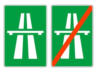 Highway signs, vector