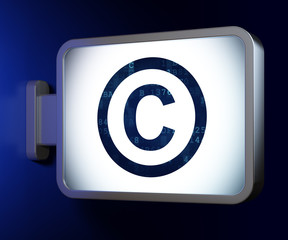 Law concept: Copyright on billboard background