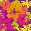 hibiscus,motif,fleur,papier peint,feuillage,exotique,tropical