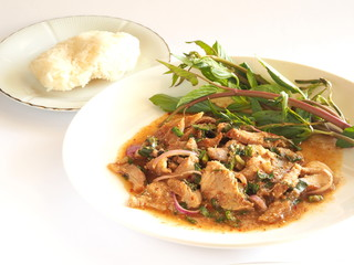 Thai cuisine - Spicy pork salad