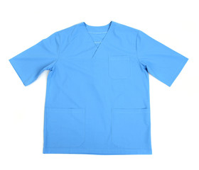 Medical clothing isolated on white