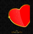 Valentines day love heart backgroung, vector illustration