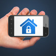 Safety concept: Home on smartphone