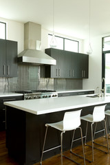 Modern Kitchen Left with 2 chairs
