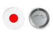 Badges with Japan flag