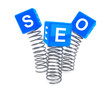 Springs with SEO cubes