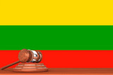 Gavel with Flag Of Lithuania