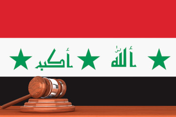 Gavel with Flag Of Iraq