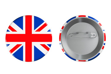 Badges with British flag