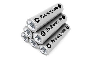 Stack of rechargeable batteries