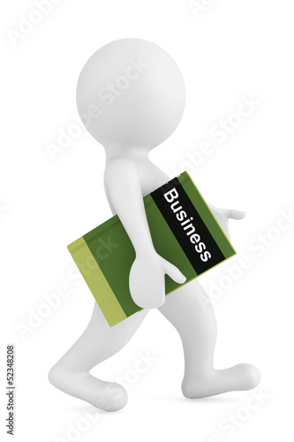 3d person with Business Book