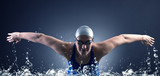 Fototapety Swimmer swims.