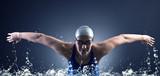 Fototapety Swimmer swims.