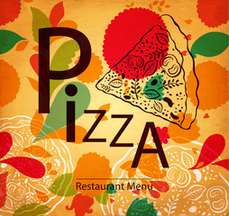 Pizza design menu