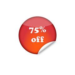 75% off sticker