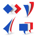 Vector logo French flags
