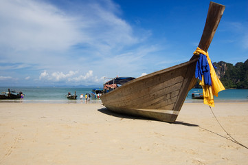 Longtail boat at beach