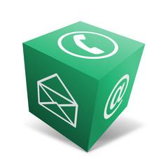 Kontakt Würfel grün