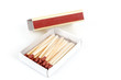 Safety matches in box on white