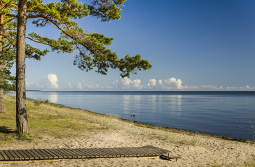 Sunny beach of the Baltic Sea, Latvia, Europe