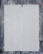 white empty street poster on blue grunge