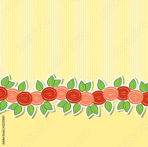 Rose banner card in vector format.