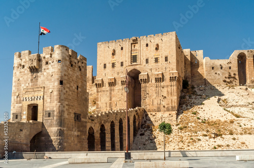 Entrance to The Aleppo Citadel