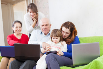 family uses few various portable electronic devices