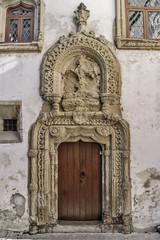 Ancient door palace in Coimbra