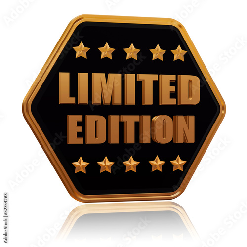 limited edition five star hexagon button
