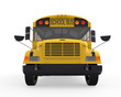 School Bus Isolated on White Background