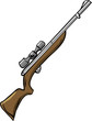 Illustration of a hunting rifle